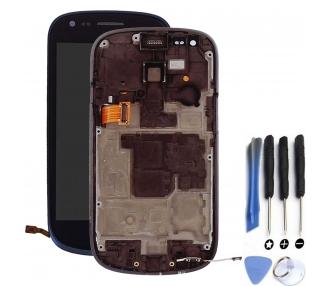 Pantalla Completa con Marco para Samsung Galaxy S3 Mini i8190 Azul ARREGLATELO - 1