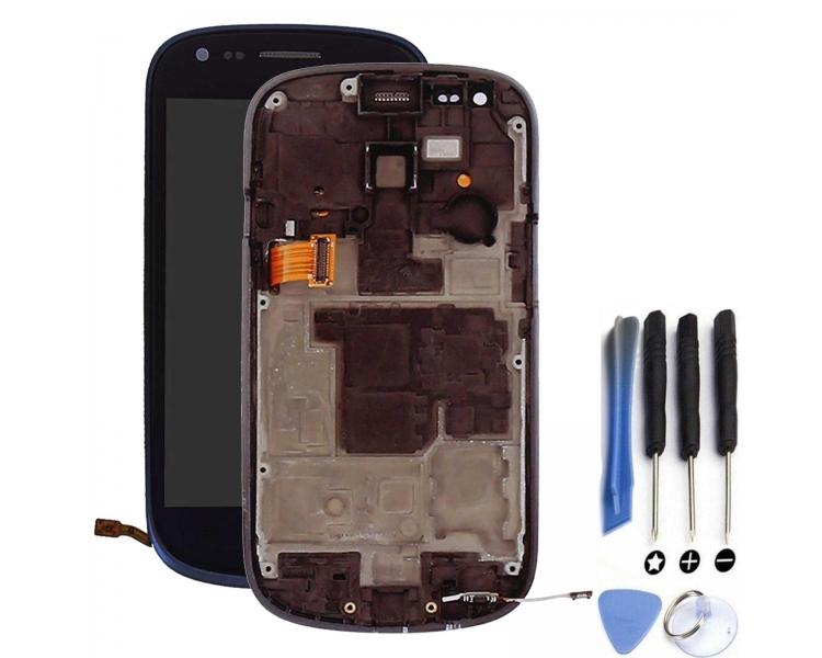 Pantalla Completa con Marco para Samsung Galaxy S3 Mini i8190 Azul