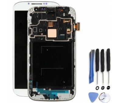 Original Bildschirm + Rahmen für Samsung Galaxy S4 i9505 Weiß Weiß Amoled Samsung - 1