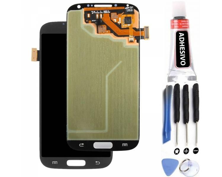 Pełny ekran dla Samsung Galaxy S4 i9500 i9505 Czarny Czarny ARREGLATELO - 1