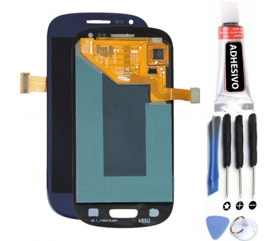 Volledig scherm voor Samsung Galaxy S3 Mini i8190 Zwart Blauw FIX IT - 1