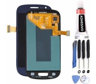 Pantalla Completa para Samsung Galaxy S3 Mini i8190 Negro Azul ARREGLATELO - 1