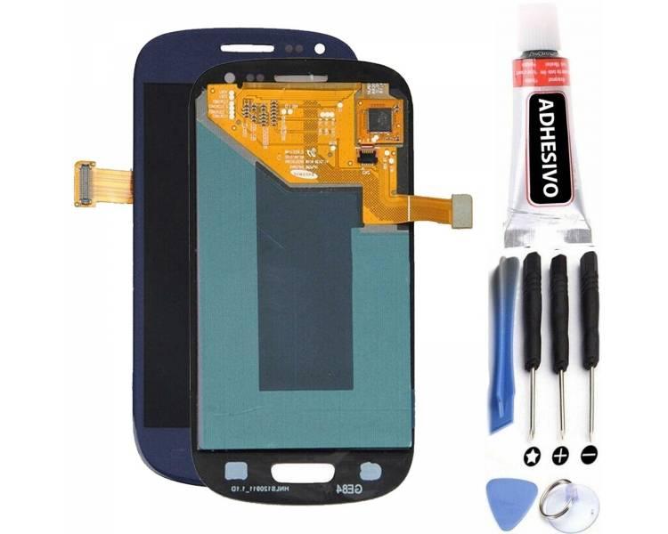Pełny ekran dla Samsung Galaxy S3 Mini i8190 Black Blue ARREGLATELO - 1