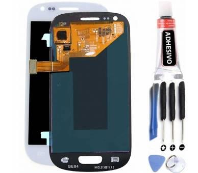 Schermo intero per Samsung Galaxy S3 Mini i8190 Bianco Bianco ARREGLATELO - 1