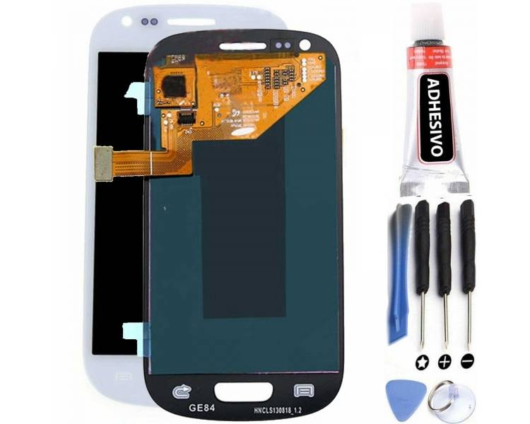 Vollbild für Samsung Galaxy S3 Mini i8190 Weiß Weiß ARREGLATELO - 1