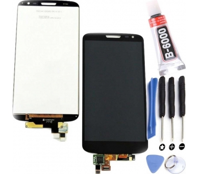 Pełny ekran dla LG G2 Mini D620 D620R Czarny Czarny ARREGLATELO - 1