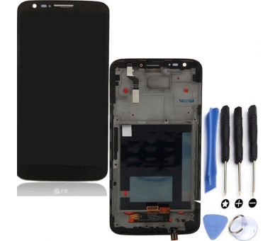Display For LG G2, D802, With Frame, Color Black ARREGLATELO - 1