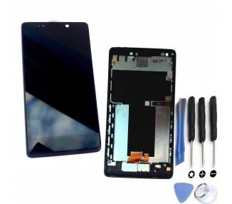 Pełny ekran z ramką dla Sony Xperia T LT30 LT30P Czarny Czarny