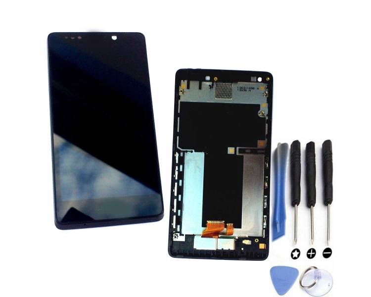 Schermo intero con cornice per Sony Xperia T LT30 LT30P Nero Nero ARREGLATELO - 1