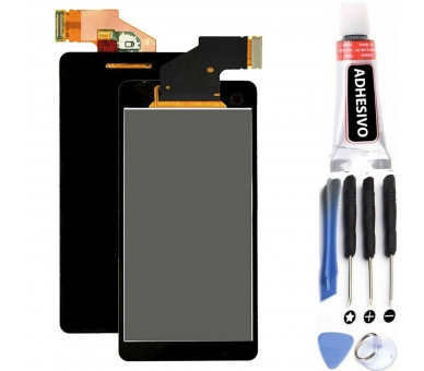 Volledig scherm voor Sony Xperia V LT25 LT25i Zwart Zwart FIX IT - 1