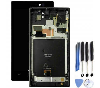 Display For Nokia Lumia 925 | Color Black | With Frame |  ULTRA+ - 1
