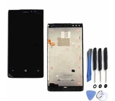 Schermo intero per Nokia Lumia 920 nero nero ARREGLATELO - 1