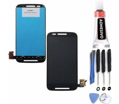 Display For Motorola Moto E, Color Black ARREGLATELO - 1