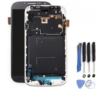 Display For Samsung Galaxy S4 i9506, Color Blue, With Frame, Original Amoled