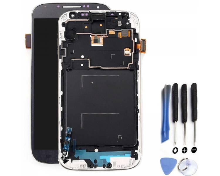 Display For Samsung Galaxy S4 i9506, Color Blue, With Frame, Original Amoled ARREGLATELO - 1