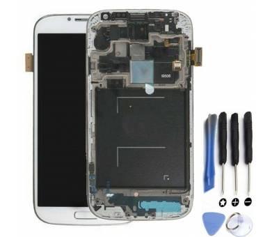 Display For Samsung Galaxy S4 i9506, Color White, With Frame, Original Amoled ARREGLATELO - 1