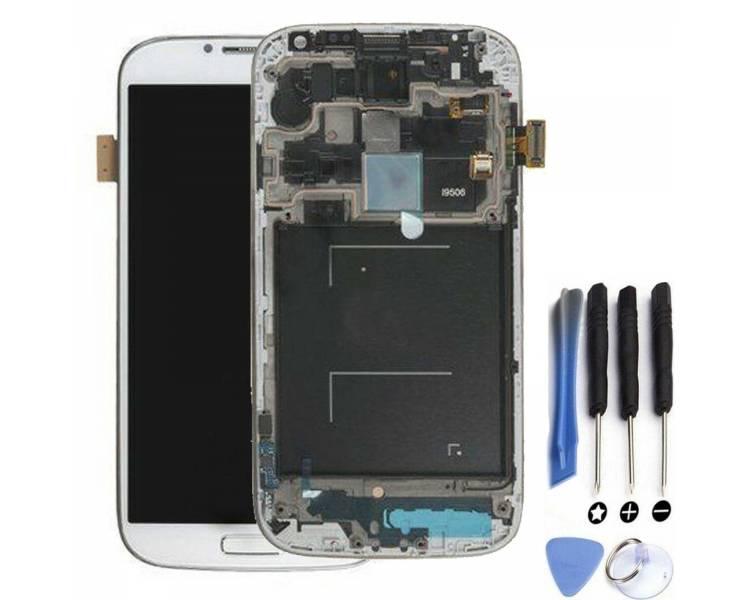Pełny ekran z Ramką do Samsung Galaxy S4 SIV i9506 Biały - AMOLED