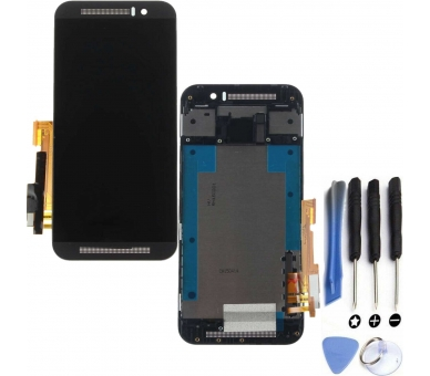 Display For HTC ONE M9, Color Grey, With Frame ARREGLATELO - 1