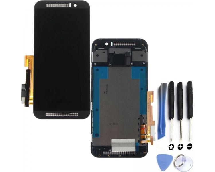 Pełny ekran dla HTC ONE M9 Czarny Czarny Szary ARREGLATELO - 1