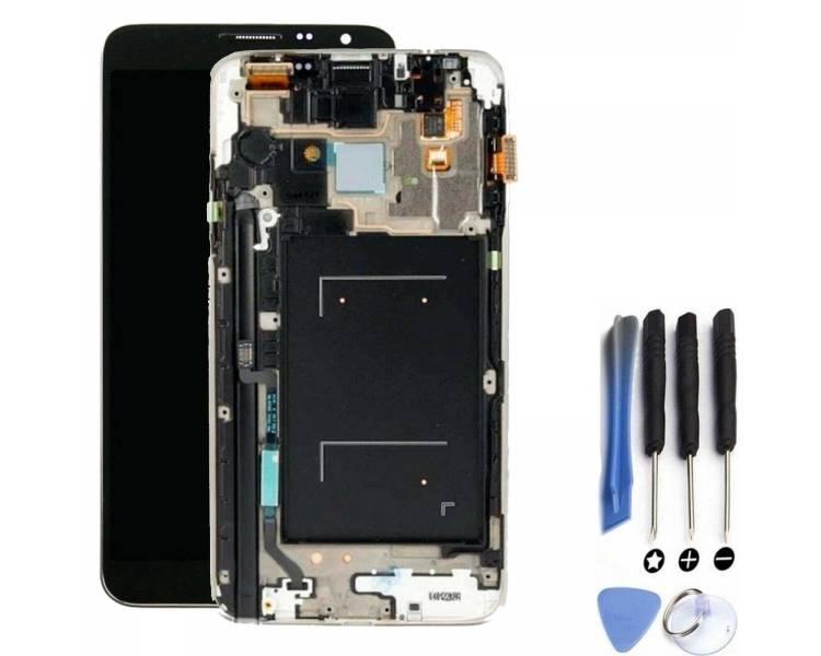 Pełny ekran z ramką do telefonu Samsung Galaxy Note 3 Czarny Czarny Szary