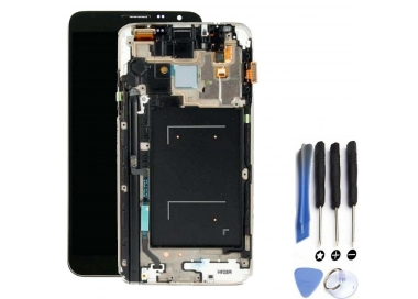 Pantalla Completa con Marco para Samsung Galaxy Note 3 Negro Negra Gris ARREGLATELO - 1