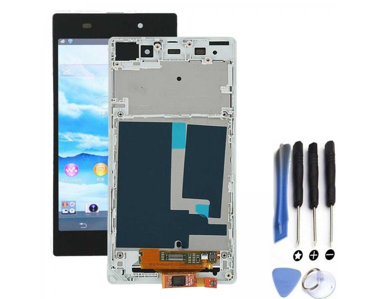 Bildschirm Display für Sony Xperia Z1 L39H Weiß ARREGLATELO - 1
