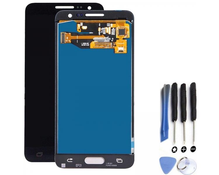 Pełny ekran dla Samsung Galaxy A3 A300F Czarny Czarny ARREGLATELO - 1