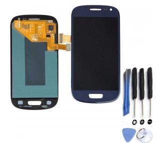 Oryginalny pełny ekran do Samsung Galaxy S4 Mini i9195 Blue