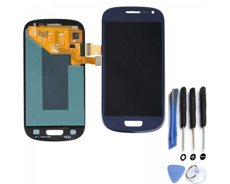 Display For Samsung Galaxy S4 Mini, Color Blue, OLED