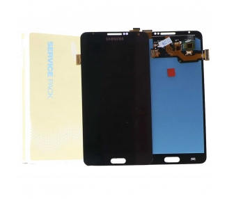 Oryginalny pełny ekran do Samsung Galaxy Note 4 N910 N910F Szary Czarny