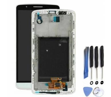 Display For LG G3, Color White, With Frame ARREGLATELO - 1