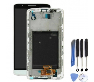 Display For LG G3, Color White, With Frame