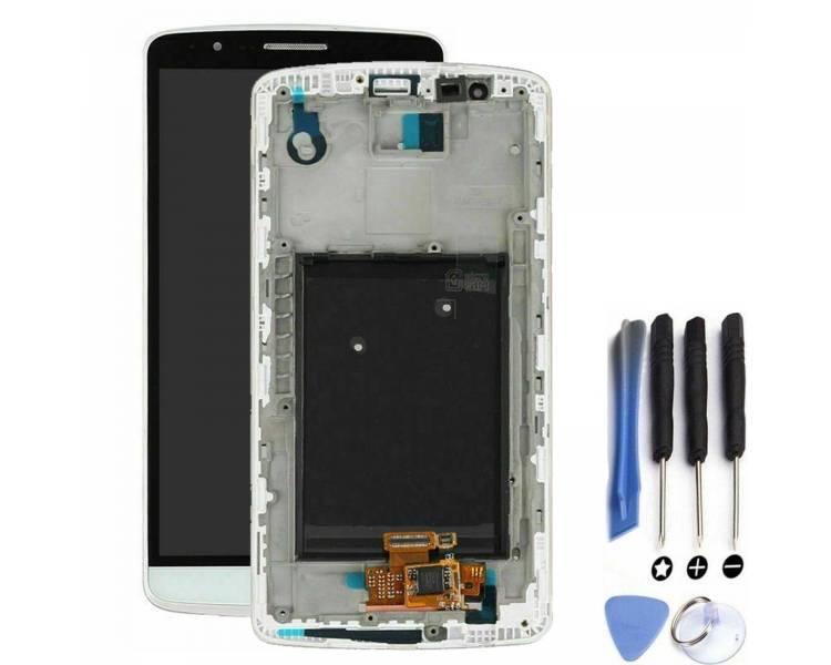 Volledig scherm met frame voor LG G3 D855 Wit Wit FIX IT - 1