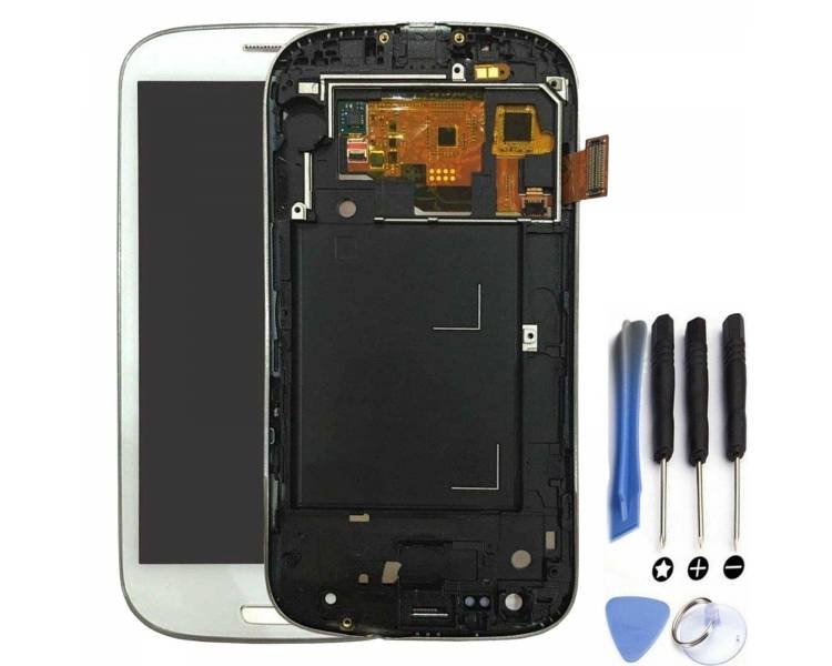 Pantalla Completa con Marco para Samsung S3 Neo i9301 i9308 Blanco Blanca ARREGLATELO - 1