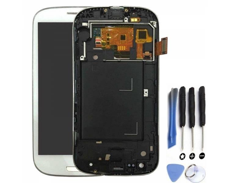 Volledig scherm met frame voor Samsung S3 Neo i9301 i9308 Wit Wit FIX IT - 1