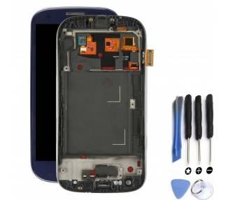 Pantalla con Marco para Samsung Galaxy S3 Neo i9301 i9308 Azul ARREGLATELO - 1