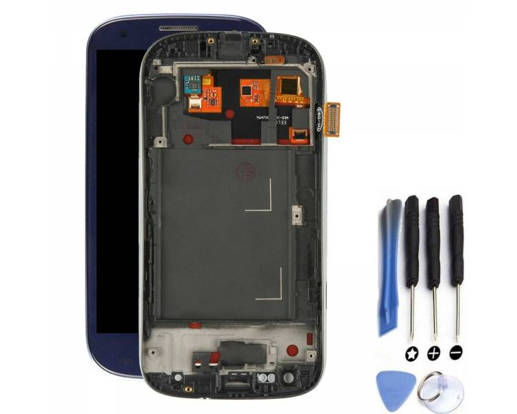 Display For Samsung Galaxy S3 Neo, Color Blue, With Frame, A ARREGLATELO - 1