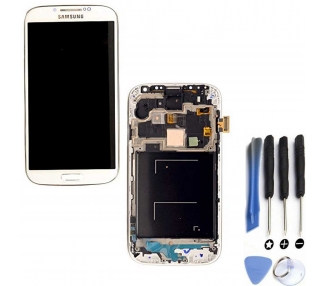 Display For Samsung Galaxy S4 i9515, Color White, With Frame, OLED