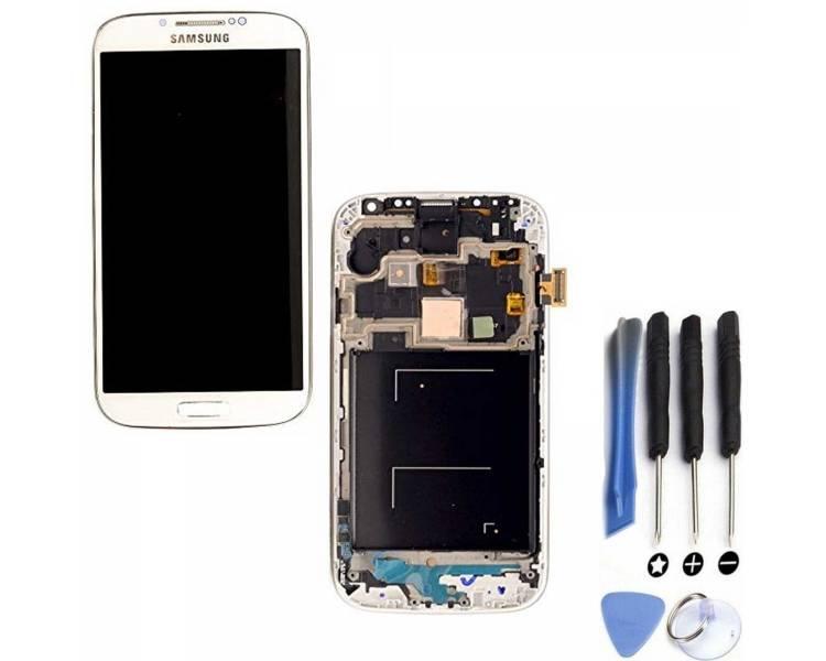 Oryginalny pełny ekran z ramką do Samsung Galaxy S4 i9515 White Amoled