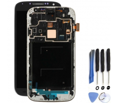 Display For Samsung Galaxy S4 i9515, Color Black, With Frame, Original Amoled ARREGLATELO - 1