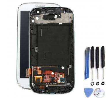 Pełny ekran z ramką do Samsung Galaxy S3 i9300 White White ARREGLATELO - 1