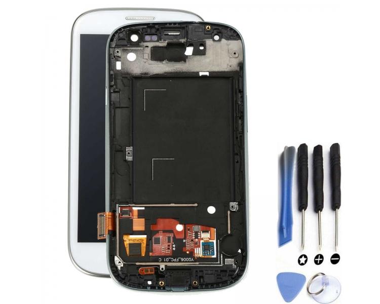 Volledig scherm met frame voor Samsung Galaxy S3 i9300 Wit Wit FIX IT - 1