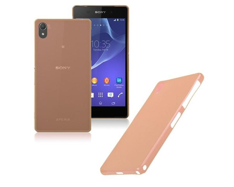 Ultracienkie etui z TPU do telefonu Sony Ericsson Xperia Z2 w kolorze pomarańczowym ARREGLATELO - 1