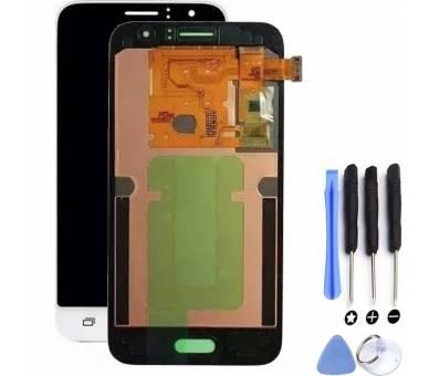 Pełny ekran do Samsung Galaxy J1 J120 J120F Biały Biały ARREGLATELO - 1