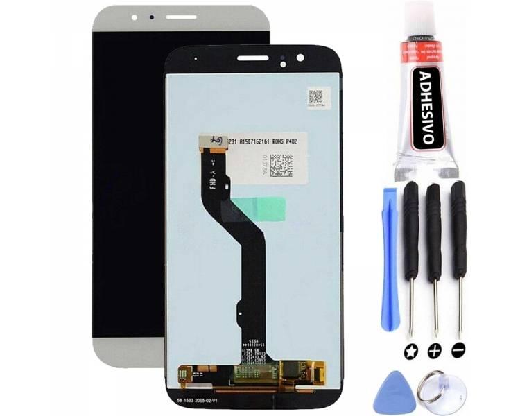 Display For Huawei Ascend G8, Color White ARREGLATELO - 1