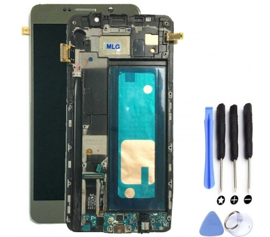 Display For Samsung Galaxy Note 5, Color Gold, With Frame, Original Amoled Samsung - 1