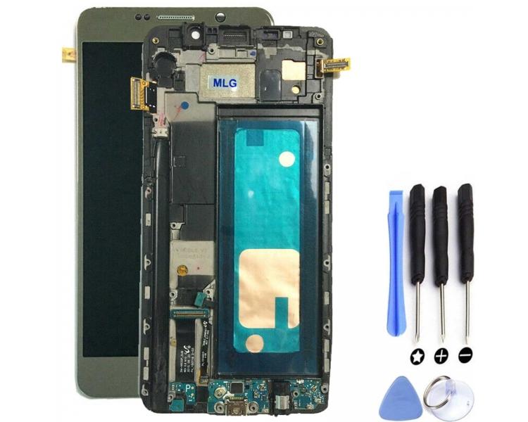 Oryginalny pełny ekran z ramką do telefonu Samsung Galaxy Note 5 N920F Gold