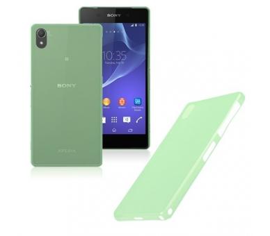 Ultradunne TPU Case voor Sony Ericsson Xperia Z2 Kleur Groen ARREGLATELO - 1