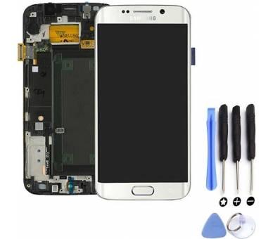 Origineel volledig scherm met frame voor Samsung Galaxy S6 Edge G925F Wit Samsung - 5