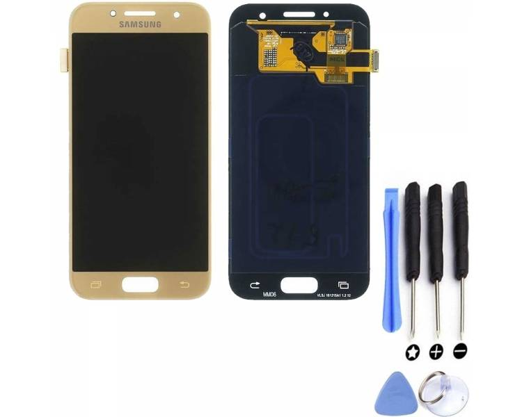 Display For Samsung Galaxy A3 2017, Color Gold, OLED Samsung - 1